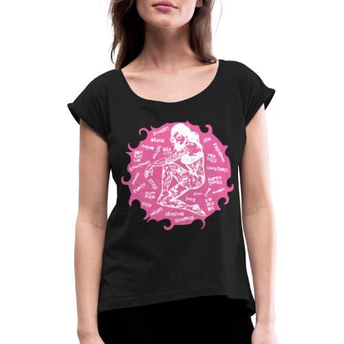 ROSA TRENDY - Maglietta da donna con risvolti