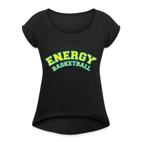 eco logo energy basketball giallo - Maglietta da donna con risvolti