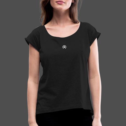 LOGO ZMIANY PRZEŁĄCZNIKA - Koszulka damska z lekko podwiniętymi rękawami