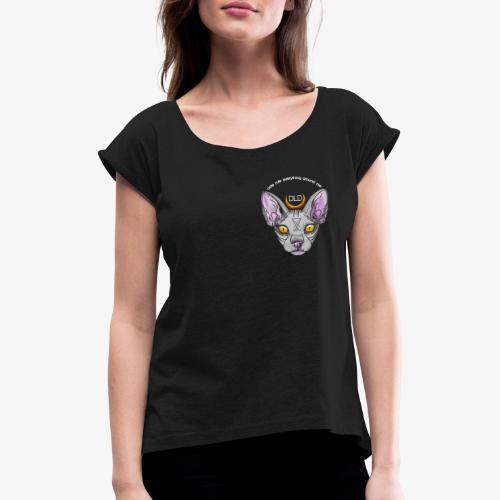 DLD CREAM - Frauen T-Shirt mit gerollten Ärmeln