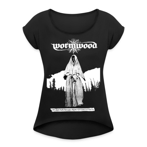 Women's Witch Print - Women's T-Shirt with rolled up sleeves