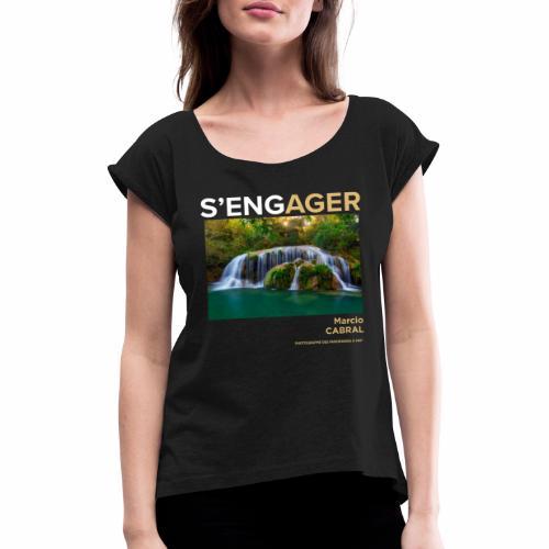 1 Achat = 1 Don Fondation Yann Arthus-Bertrand - T-shirt à manches retroussées Femme
