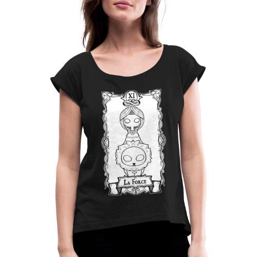 Tarot Card: La Force - Dame T-shirt med rulleærmer