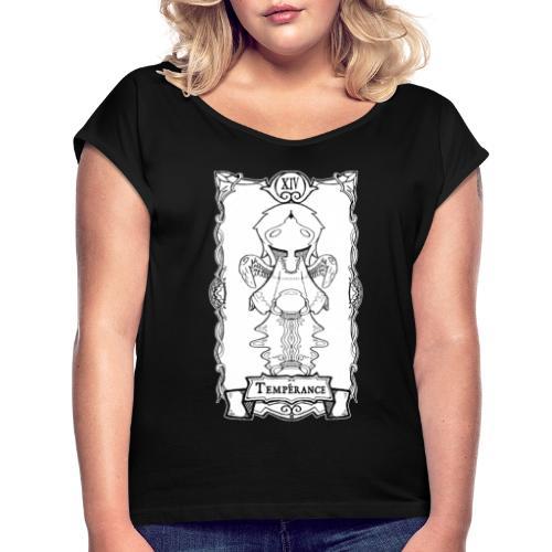 Tarot Card: Temperance - Dame T-shirt med rulleærmer