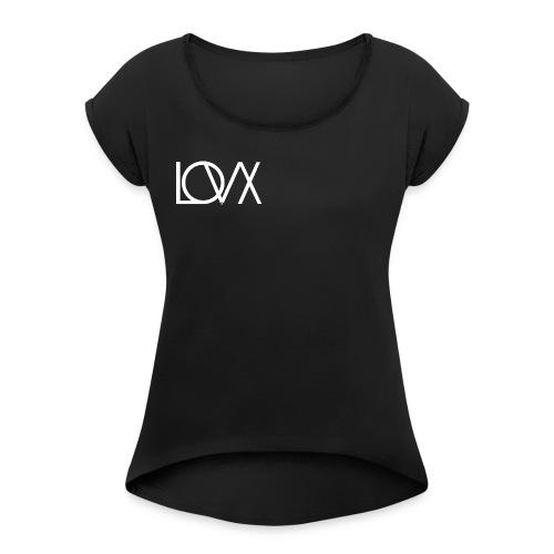 lovx - Frauen T-Shirt mit gerollten Ärmeln