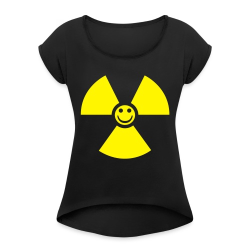 Atom! - T-shirt med upprullade ärmar dam