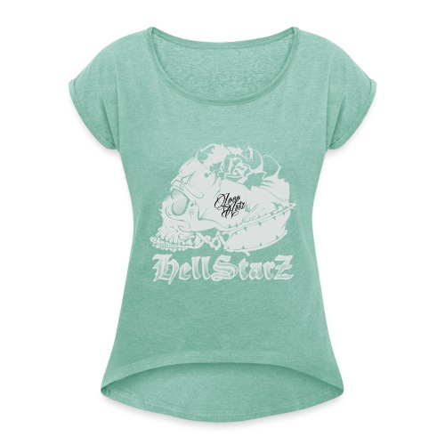 HELLSTARZ Skull Logo - T-shirt à manches retroussées Femme