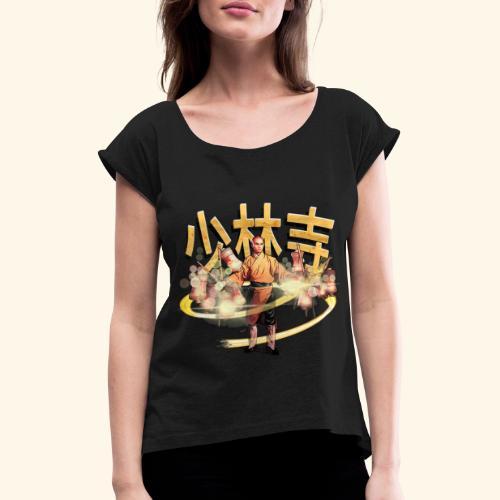 Gordon Liu som San Te - Warrior Monk - Dame T-shirt med rulleærmer