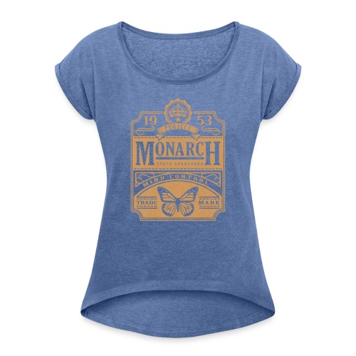 MONARCH VINTAGE GOLD - Women's T-Shirt with rolled up sleeves