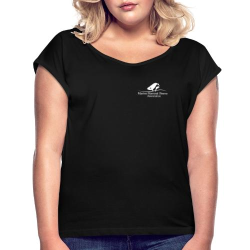 Environmental Advisor identifier White MMOA - Women's T-Shirt with rolled up sleeves