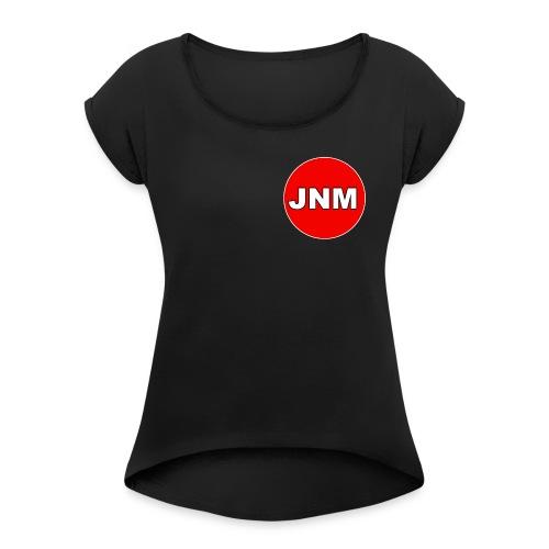 JustNotMe Logo - Vrouwen T-shirt met opgerolde mouwen