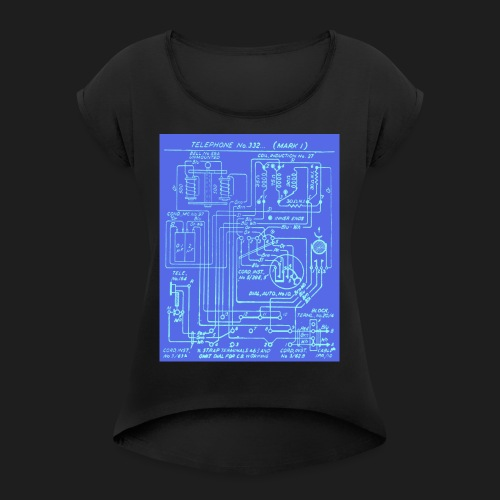 Telephone Circuit - Women's T-Shirt with rolled up sleeves