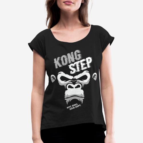 dubstep dub step music edm - Frauen T-Shirt mit gerollten Ärmeln