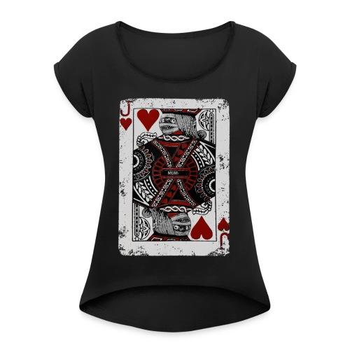 Joker Mummy - Maglietta da donna con risvolti