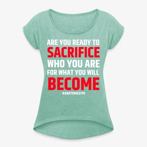 ARE YOU READY - T-shirt à manches retroussées Femme