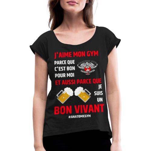 ANATOMIC GYM LIFESTYLE - T-shirt à manches retroussées Femme