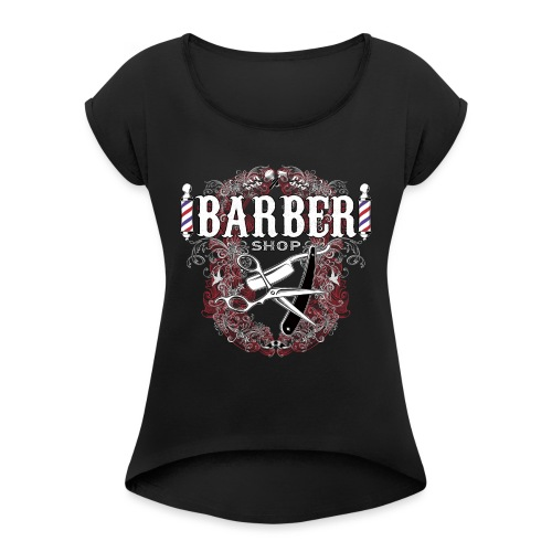 Barber Shop_03 - Maglietta da donna con risvolti