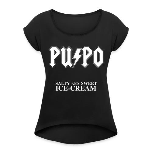 Salty and Sweet ICE-CREAM - Maglietta da donna con risvolti