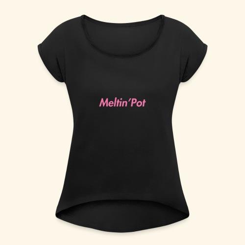 Meltin'Pot - Maglietta da donna con risvolti