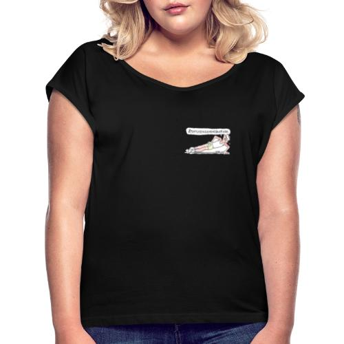 ÅTTATUSENSJUHUNDRANITTIOTRE... - T-shirt med upprullade ärmar dam