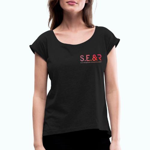 LogoBlack Edition - T-shirt à manches retroussées Femme