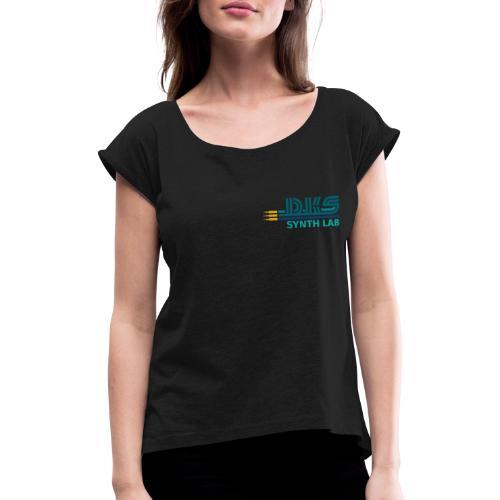 DKS SYNTH LAB Flat petrol - Maglietta da donna con risvolti