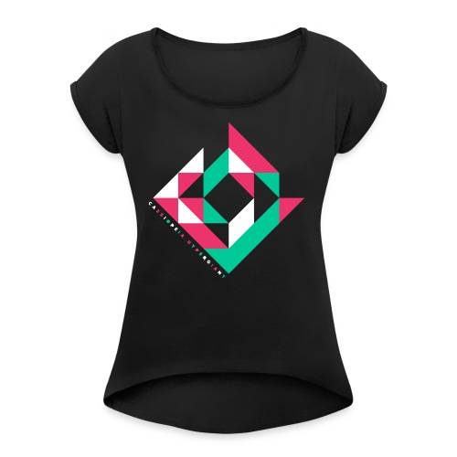 Diamond - Frauen T-Shirt mit gerollten Ärmeln