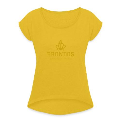 Brondos - Naisten T-paita, jossa rullatut hihat