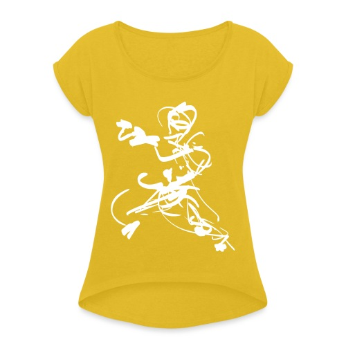 mantis style - Women's T-Shirt with rolled up sleeves