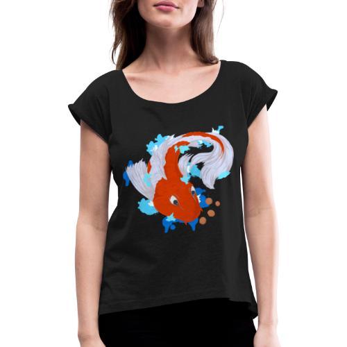 Carpa Koi - Maglietta da donna con risvolti