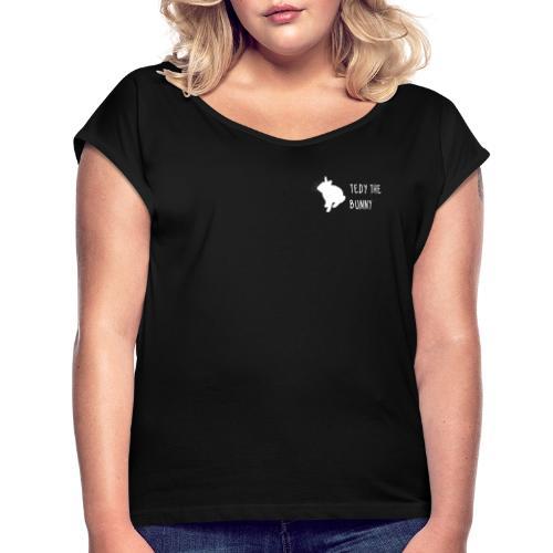 tedythebunny white - Camiseta con manga enrollada mujer