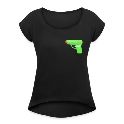 9mm - Maglietta da donna con risvolti