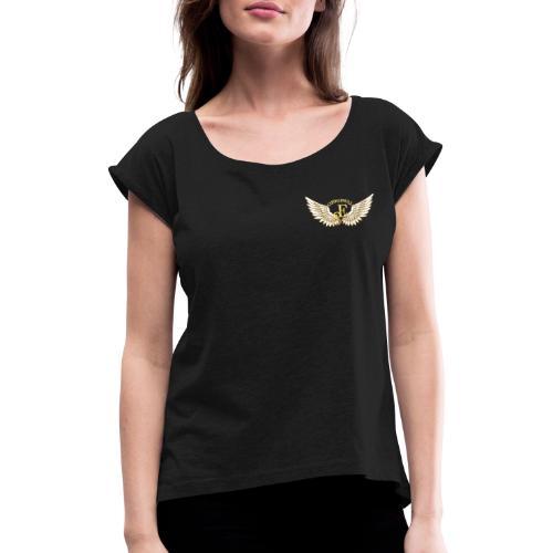 Ehrensquad.eu - Frauen T-Shirt mit gerollten Ärmeln
