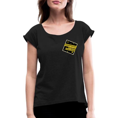 SitP Logo Angled - Women's T-Shirt with rolled up sleeves
