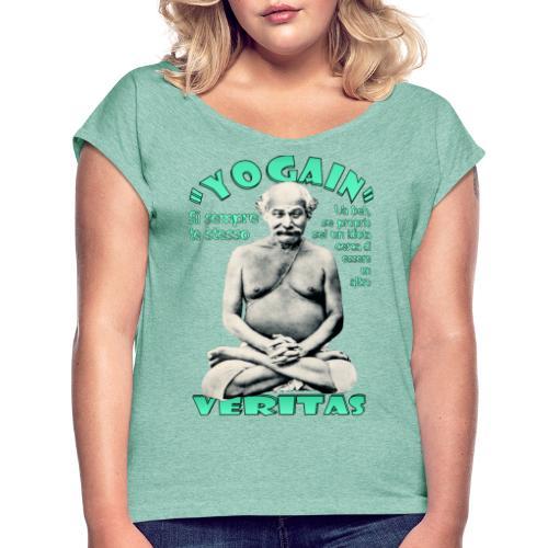 YogaIn Veritas - Maglietta da donna con risvolti