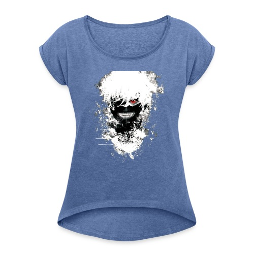 Tokyo Ghoul Kaneki - Women's T-Shirt with rolled up sleeves