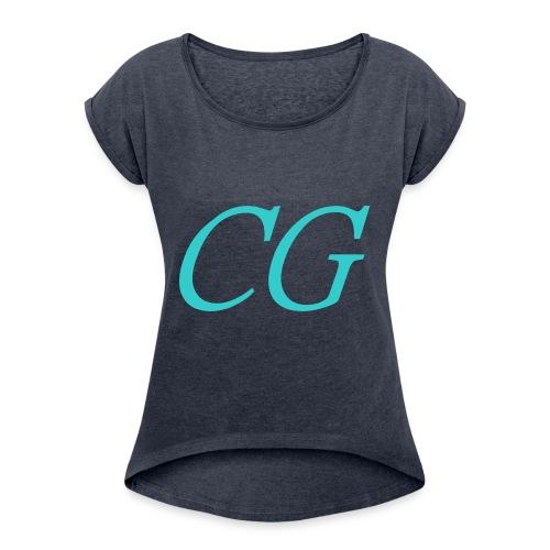 CG - T-shirt à manches retroussées Femme