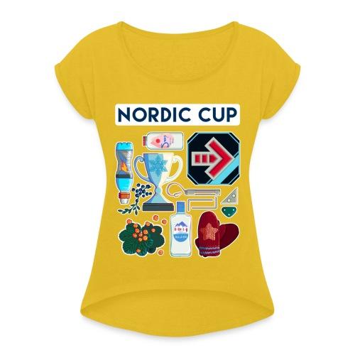 Nordic 2018 - Naisten T-paita, jossa rullatut hihat