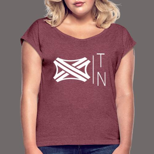Tregion logo Small - Women's T-Shirt with rolled up sleeves