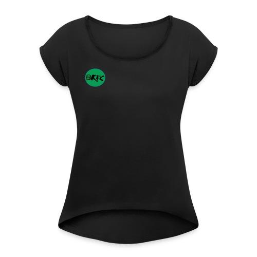 Simple Clothing - Vrouwen T-shirt met opgerolde mouwen