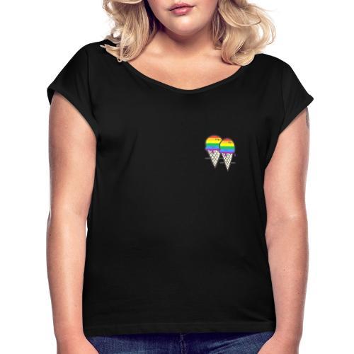 cone LGBT - T-shirt à manches retroussées Femme