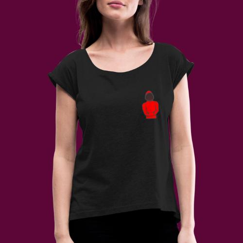 Hoodie - Women's T-Shirt with rolled up sleeves