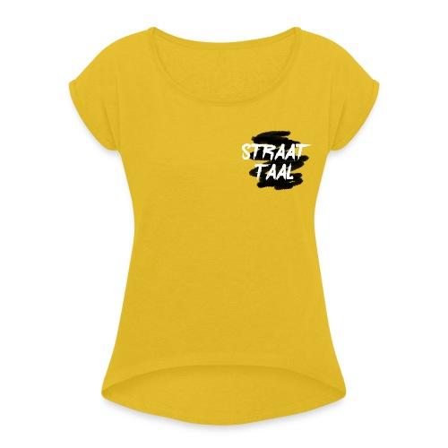 Kleding - Vrouwen T-shirt met opgerolde mouwen