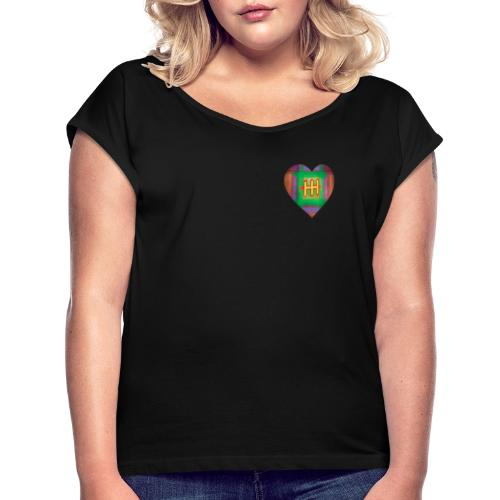 HH with a Heart - Women's T-Shirt with rolled up sleeves