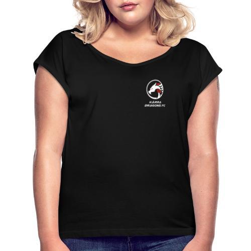 Sister of a dragon - T-shirt med upprullade ärmar dam