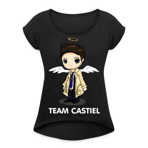 Team Castiel (dark) - Women's T-Shirt with rolled up sleeves