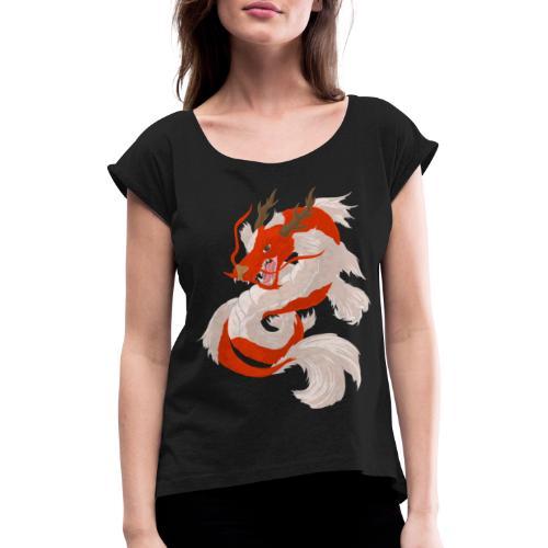 Dragon koi - Maglietta da donna con risvolti
