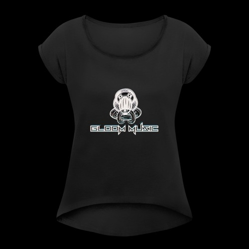 GLOOM MUSIC LOGO 3D - Women's T-Shirt with rolled up sleeves