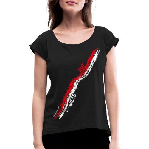 Rut Wiess - Frauen T-Shirt mit gerollten Ärmeln