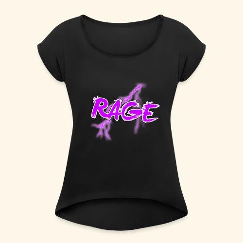 Logo rage - T-shirt à manches retroussées Femme